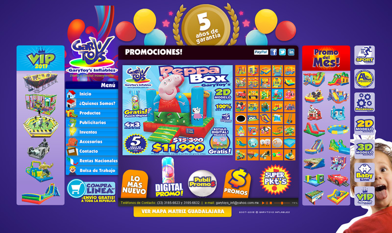 garytoys pagina web flash