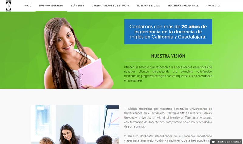 inglés empresarial diseño web