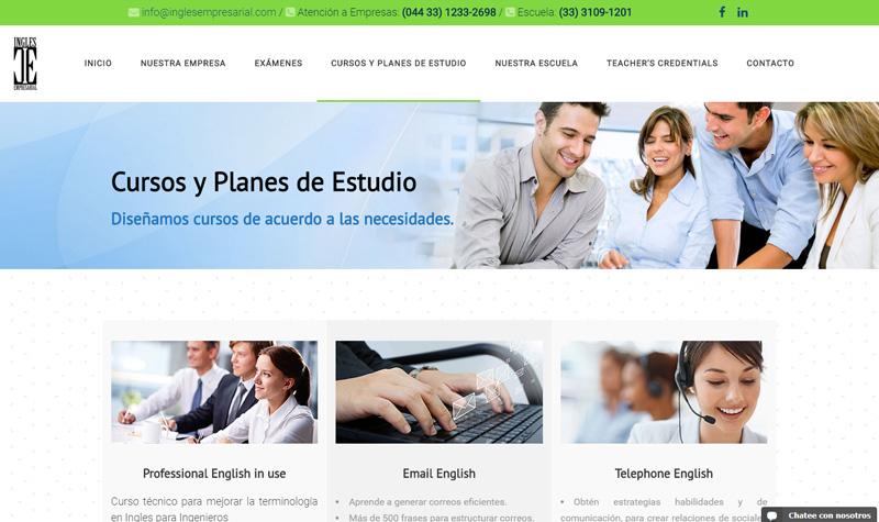 inglés empresarial pagina web