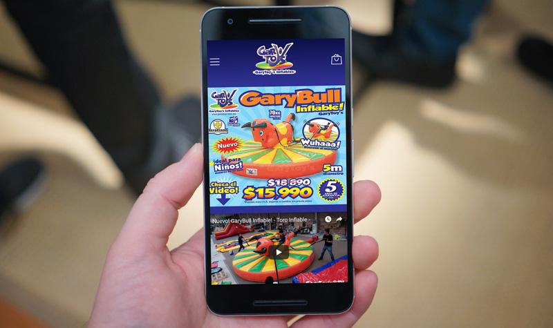 garytoys web app móvil